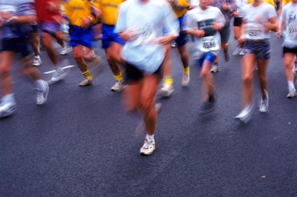 Runners In A Marathon