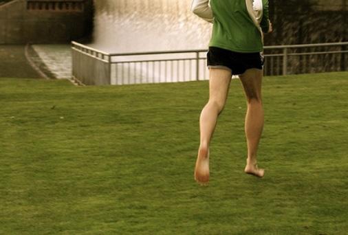 Running Barefoot On Grass