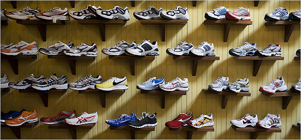 Wall Of Running Shoes