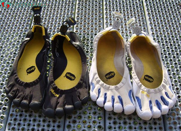 Two styles of Vibram Five Fingers Classic